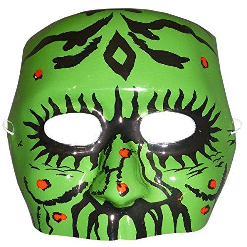 BALLOONSHOP Plastica Verde Mostro Mezza Maschera - Halloween / Costumi (MI72)