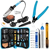Soldering Iron, Soldering Iron Kit with Solder, 60W Adjustable Temperature Soldering Kit, 2