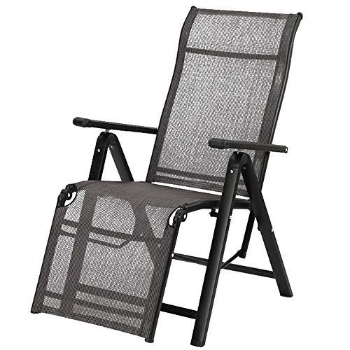 Folding chair Silla Plegable hogar reclinable Almuerzo Descanso Cama Siesta Silla Respaldo de Oficina Silla Plegable Silla de Playa Silla de computadora