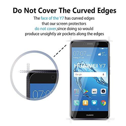 EJBOTH 2X Huawei Y7 2017 Panzerglas, Premium Schutzfolie Glas Handy Displayschutz Schutz Panzerfolie Transparent Kristall- High Definition Ultra-beständig 9H - 5