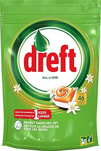 Dreft - All In One Orange Geschirrspülertabletten - 46 Tabletten