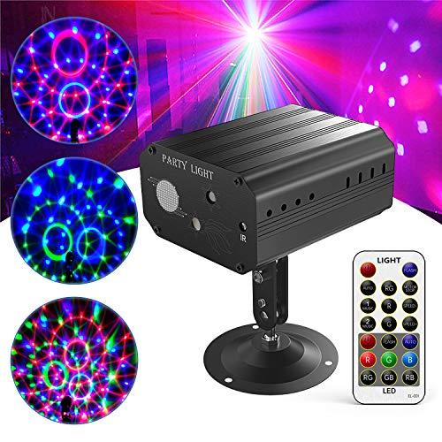 GVOO Discokugel,Gvoo Sound Aktivierte Party Light LED Bühnenprojektor für Urlaub Party Kinder Geburtstag Karaoke Club Lichteffekte Weihnach