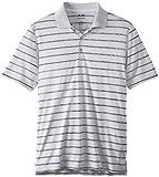 adidas Golf Men's Puremotion(tm) 2-Color Stripe Jersey Polo '15 White/Black Polo...