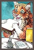 刻印 クロスステッチキットは パンを食べる漫画の虎 初心者のための刺繡スターターキットのフルレンジを40x50cm
