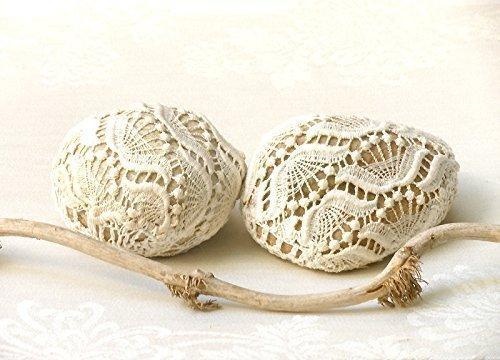 Crochet Lace Stones, Up-cycled Decorated Rocks, Country Rustic Garden, Home and Wedding Decor, Paperweight, Door stop