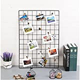 ShouYu DIY Rejilla Foto Pared,Pared Parrilla,Ins cuadrícula Panel, multifunción Estantería Grid Wall,Decoración Pared,Tablero Memo (65 * 45cm,Negro)