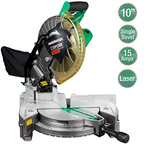 Metabo HPT 10' Compound Miter Saw | Laser Marker | 15-Amp Motor | Single...