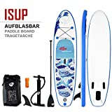 COSTWAY SUP Board 305 x 80 x 15cm, Stand up Board aufblasbar, Stand up Paddling Board, Stand up Paddel Board, Paddelboard, inkl. Rucksack, Pumpe, Reparaturset, Alu-Paddel und Center Finne -