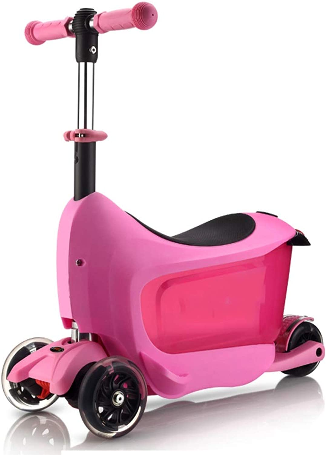 YUMEIGE Kick Scooters Kick Scooter City ScootersFolding Scooter Adjustable for 1-6 Years Old Boys Girls Birthday Gift (color   Pink)