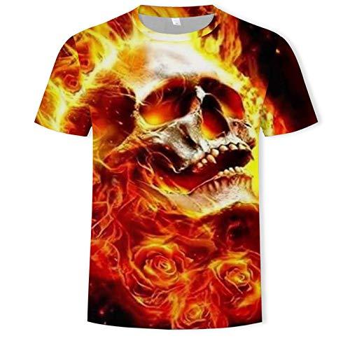 SSBZYES Camiseta para Hombre Camiseta de Manga Corta para Hombre Camiseta con Estampado de Lobo de Verano Camiseta de Talla Grande para Hombre Camiseta Casual de Verano para Deportes Talla Grande