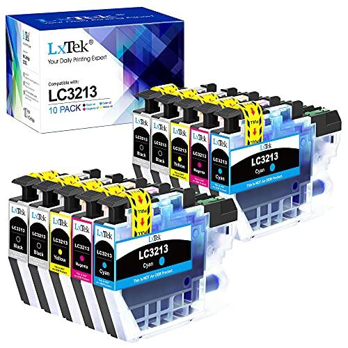 LxTek Kompatibel Tintenpatrone als Ersatz für Brother LC3213 für DCP-J572DW MFC-J491DW MFC-J497DW MFC-J890DW MFC-J895DW DCP-J774DW (Schwarz Cyan Gelb Magenta, 10er-Pack)
