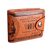 LUI SUI-Men Us Dollar Bill Wallet Billfold Leather Credit Card Photo Holder