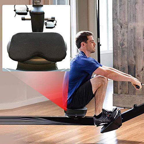 wwqasdfv Il Cuscino del Sedile del Vogatore Si Adatta a Memory Foam più Spessa,Rivestimento Lavabile e Cinghie-Funziona alla Grande con la Cyclette reclinata per Esercizi