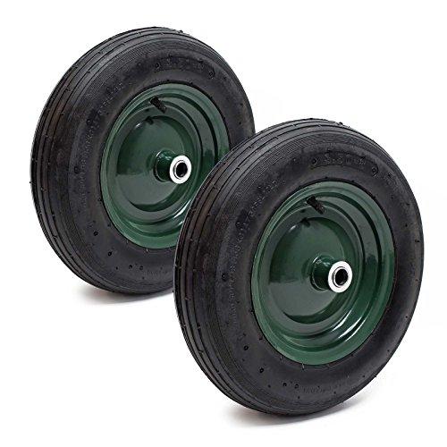 2x rueda completa carretilla 3.50-8 neumático llanta carretillo carro