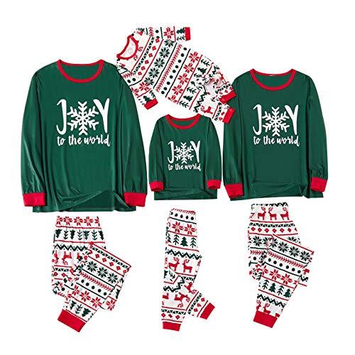 Fossen MuRope 2 Piezas Pijama Familiar a Juego Navidad Pijamas Navideños Familiares Iguales Pijamas Bebe Niña Pijama Mujer Largo Hombre Invierno