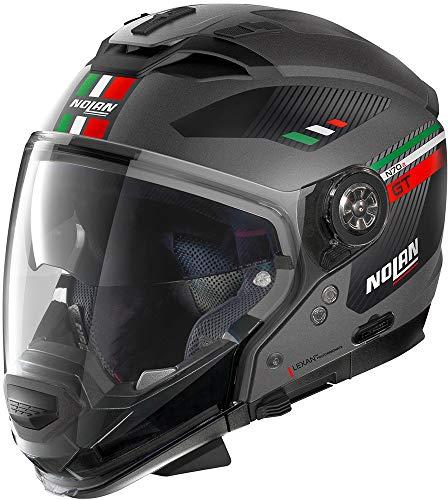Nolan Unisex-Adult N70-2 Gt Bellavista N-com Flat Lava Gray M Helmet, grau, M