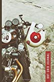 Dot Grid Journal: Retro Motorcycle Photo Cover / Small 6x9 Size / Design Book / Planner / Dotted Notebook / Great Gift for Drawing, Journaling, Artsy ... and Crafty People / Cute Card Alternative
