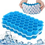 X99 Ice Cube Tray with No-Spill Removable Lid, Easy-Release Silicone 74-Ice Cube Molds