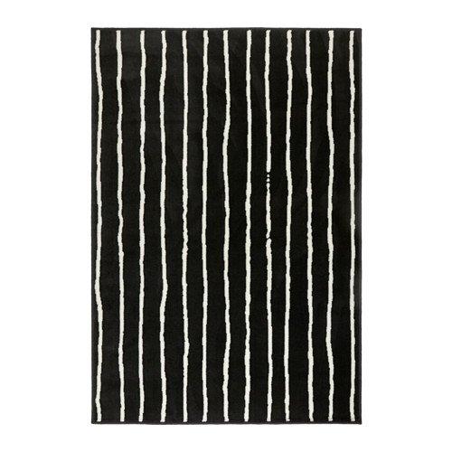 IKEA Teppich Niedrigflor schwarz/weiß