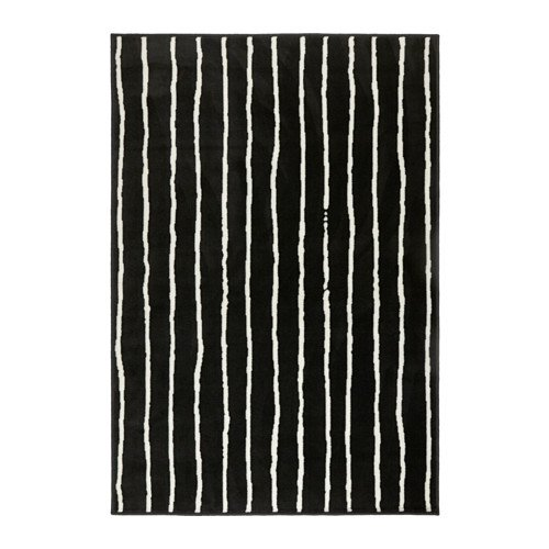ikeaa IKEA Teppich Niedrigflor schwarz/weiß