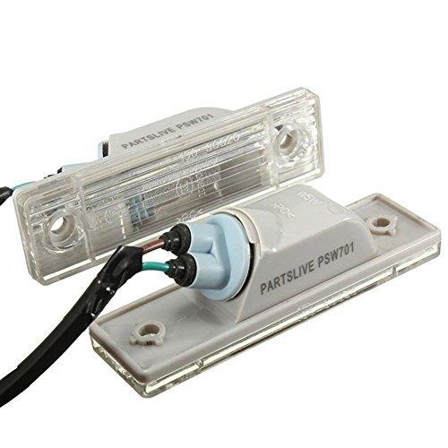 KATUR 2 x luz de la placa de matrícula para C hevrolet para Cruze coche trasero placa lámpara tronco interruptor Asamblea coche estilo