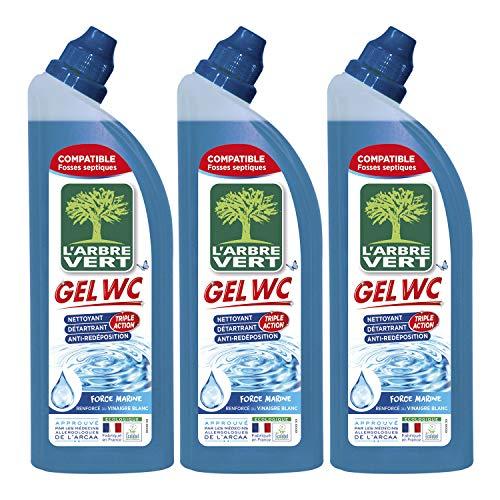 L'Arbre Vert - Nettoyant Gel WC - Marine - 750 ml - Lot de 3
