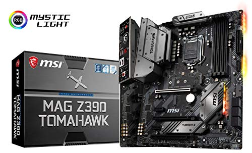 MSI MAG Z390 Tomahawk LGA1151 (Intel 8th and 9th Gen) M.2 USB 3.1 Gen 2 DDR4 HDMI DP CFX Dual...