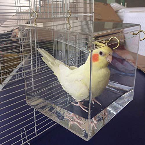 Vogel-Badewanne, geräumiger Käfig, Dusche Nymphensittiche, Papageien, transparent mit Haken zum...