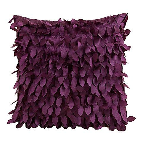 Preisvergleich Produktbild westeng 1 PCS Kissenhülle aus Seide Farbe SSD Kissenbezug Kissenbezug Stoßdämpfer Dekoration mit Ausschluss von 43x43cm purpur