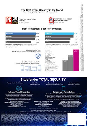 BitDefender Total Security Latest Version (Windows / Mac / Android / iOS) - 3 Devices, 3 Years (Email Delivery in 2 hours - No CD) 2