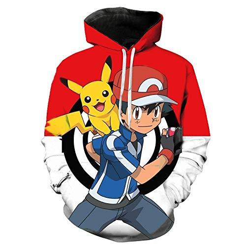 Animation 3D Imprimé Hoodies Hommes Femmes Enfants Mode Hoodies Pokemon Garçon Fille Enfants Sweatshirts Streetwear Vêtements Manteau-Wya4282_L