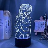 3D Night Light - Lámpara 3D con diseño de anime My Hero Academia Momo Yaoyorozu para dormitorio, decoración de cumpleaños, regalo de recuerdo y regalo para niños