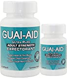 124 Guai-Aid 600mg'Ultra-Pure' Guaifenesin Capsules (100 Size Bottle & 24 Size)