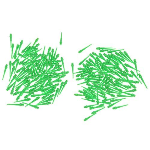 200 Stück Dart Spitzen Soft Tips aus Kunststoff, Grün