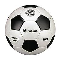 ミカサ サッカーボール 検定球5号 一般/大学/高校/中学 SVC55-WBK 白/黒 貼り亀甲 SVC55-WBK