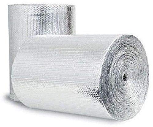 Double Bubble Reflective Foil Insulation 250SF (48inch X 62.5Ft Roll) Industrial Strength, Commercial Grade, No Tear, Radiant Barrier Wrap for Weatherproofing Attics, Windows, Garages, RV's, Ducts ETC