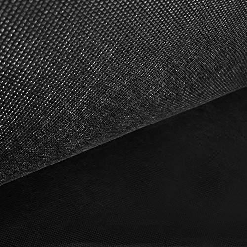 NOVELY® Viva Vlies Rückseitenvlies Spannvlies Inlettstoff Innenstoff Polstervlies Innenbezug | 80 100 120 150 g/m² | 1 lfm x 160cm Grammatur: 150 g/m2 | Farbe: Schwarz