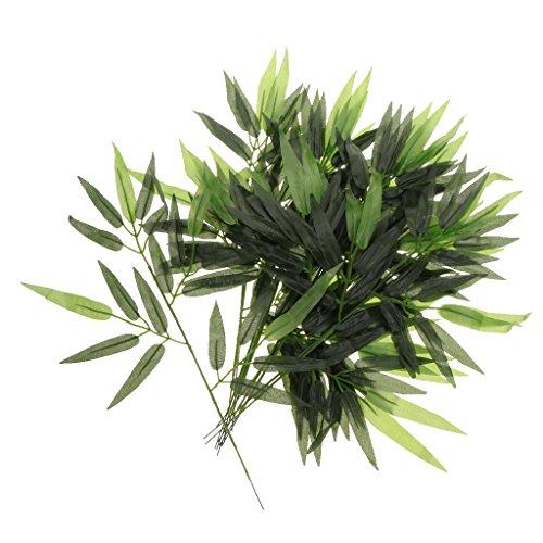 VANKOA 12X 60cm Künstliche Bambusblatt Rankenpflanze Girlande Startseite Hochzeitsdekoration