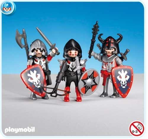 PLAYMOBIL 7975 - 3 Caballeros del Dragón Rojo