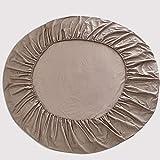 Lenzuolo copriletto Tondo in Puro Cotone BUBULILI-100% in Stile Europeo Lenzuola copriletto Tinta Unita per Diametro Rotondo 220 cm