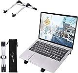 Megainvo ノートパソコンスタンド 6段階調整可能 折り畳み式 pcスタンド 軽量 アルミ合金 放熱効果抜群 ノートPCスタンド 収納 持ち運び便利 滑り止めパッド付き 携帯/Ipad/MacBook/MacBook Air/MacBook Pro/ノートパソコン/タブレットなど15.6インチまで全般対応可能 1年メーカー保証付き