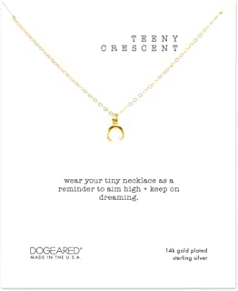 Petite Pearl Like Bezel Necklace - Gold Tone