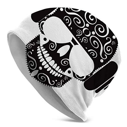 Skull Icon - Gafas de sol para hombre, color negro, ideal como gorro para correr, ciclismo o gorro deportivo