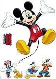 Komar Disney Deco-Sticker MICKEY AND FRIENDS | 50x70cm | Wandtattoo, Wandsticker, Wandaufkleber, Wandbild, Mickey Maus, Minnie Maus, Kinderzimmer | 14017h