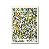 Póster de exposición impreso en lienzo de William Morris, pintura Art Nouveau subterránea de Londres, pintura en lienzo sin marco, A4, 60x90cm