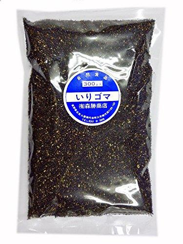 香ばしく風味豊かな直火焙煎いりごま黒 200g 10個セット