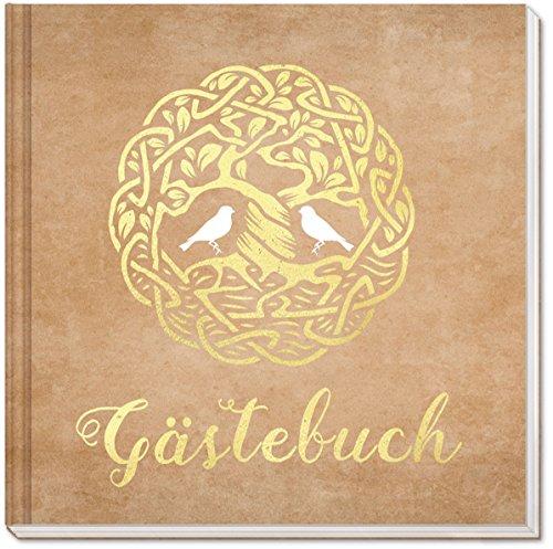 Sophies Kartenwelt Gästebuch Hochzeit - Goldfoliengeprägtes Hardcover / 144 weiße Seiten/Format: 21 x 21 cm/Hochzeitsgästebuch/Hochzeitsalbum/Hochzeitsgeschenk