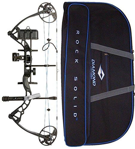 Diamond Archery by Bowtech Infinite Edge Pro RAK Package - Right Hand Model in Black Bundle with Case