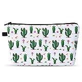 Pochette per Trucchi Donna - Beauty Case da Viaggio Cactus Pochette Portatrucchi Borsa Cosmetica Astucci Impermeabile Cosmetici Pochette Borsa per Viaggio Trousse Makeup Borsa per Toilette