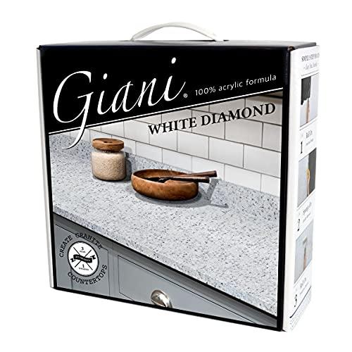 Giani Granite Countertop Paint Kit 2.0- 100% Acrylic (White Diamond)
